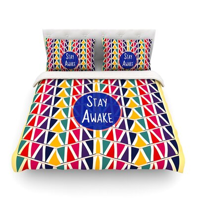 Stay Awake by Famenxt Featherweight Duvet Cover Size: Full/Queen