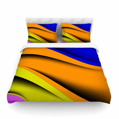 Colorful Flow Abstract Digital by Fotios Pavlopoulos Featherweight Duvet Cover Size: Full/Queen
