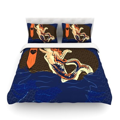 Mermaid by Famenxt Featherweight Duvet Cover Size: King