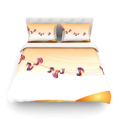 Nature Music by Famenxt Featherweight Duvet Cover Size: Twin