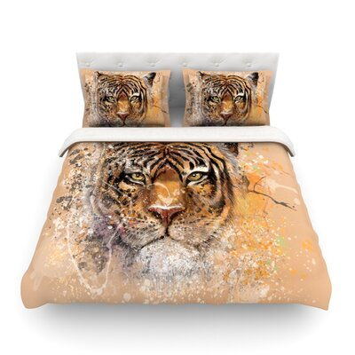 My Tiger by Geordanna Cordero-Fields Featherweight Duvet Cover Size: King
