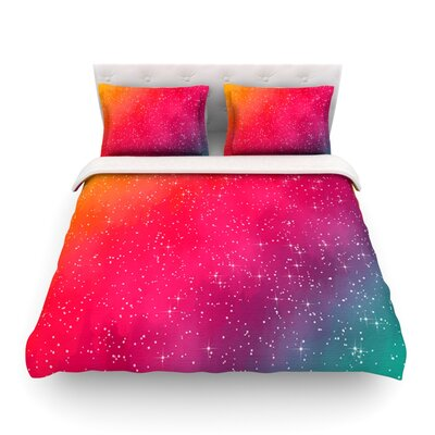 Colorful Constellation Glam by Fotios Pavlopoulos Featherweight Duvet Cover Size: Full/Queen