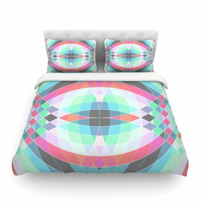 Jazar Abstract Geometricby Fimbis Featherweight Duvet Cover Size: Full/Queen