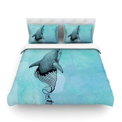 Shark Record by Graham Curran Featherweight Duvet Cover Size: Twin
