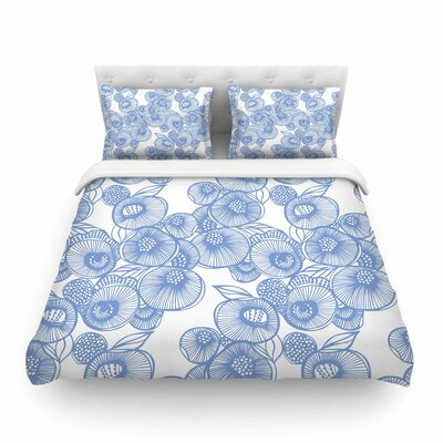 Fenella Floral by Gill Eggleston Featherweight Duvet Cover Size: Full/Queen