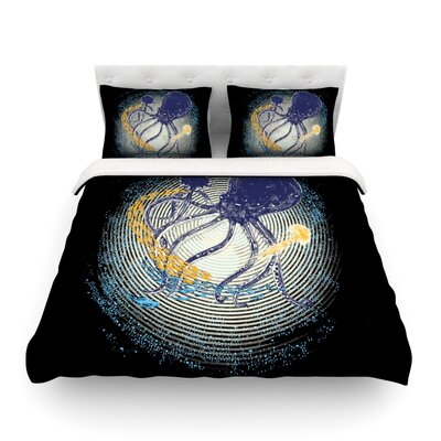 Tentacular Trap Octopus by Frederic Levy-Hadida Featherweight Duvet Cover Size: King