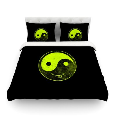 Bad Ass Ying Yang by Frederic Levy-Hadida Featherweight Duvet Cover Size: Full/Queen