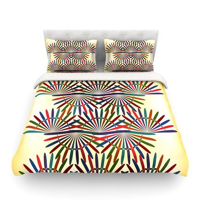 Colorful Abstract Pattern by Famenxt Featherweight Duvet Cover Size: Full/Queen