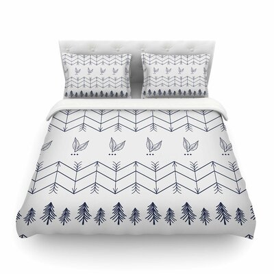 Tribal Arrows Jungle Stars Pattern by Famenxt Featherweight Duvet Cover Size: Twin