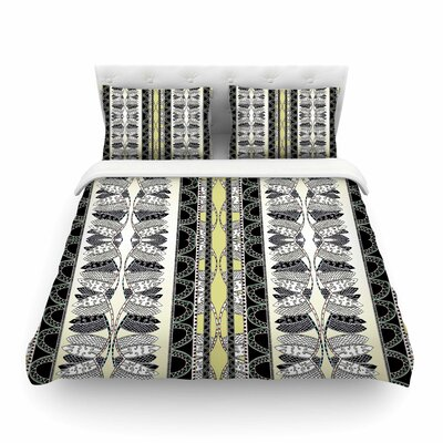Oriental Stripes Digita by Fernanda Sternieril Featherweight Duvet Cover Size: King