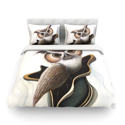 Lucid June Brown Owl by Graham Curran Featherweight Duvet Cover Size: Full/Queen