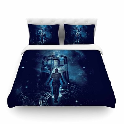 Time Traveller Fantasy by Frederic Levy-Hadida Featherweight Duvet Cover Size: Twin