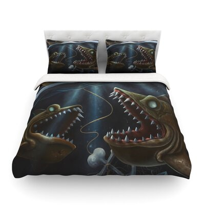 Sink or Swim by Graham Curran Featherweight Duvet Cover Size: King