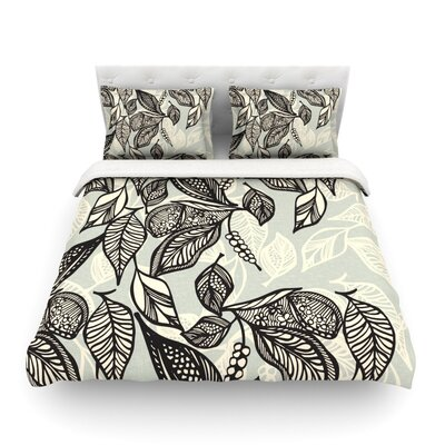 Java Leaf by Gill Eggleston Featherweight Duvet Cover Size: King