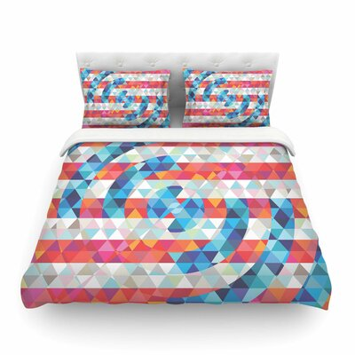Abstract America Digital by Fimbis Featherweight Duvet Cover Size: Twin