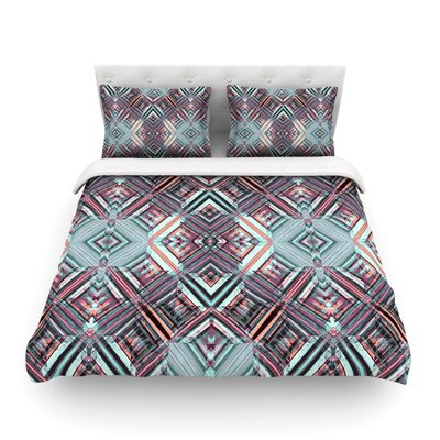 Watercolor Caledoscope by Gabriela Fuente Featherweight Duvet Cover Size: King