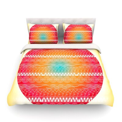 Romantic Pattern Abstract by Famenxt Featherweight Duvet Cover Size: King