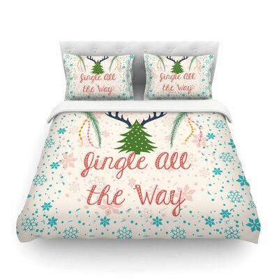 Jingle All the Way Holiday Digital by Famenxt Featherweight Duvet Cover Size: King