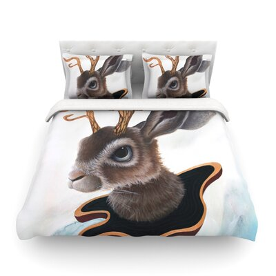 Lucid Jack Brown Rabbit by Graham Curran Featherweight Duvet Cover Size: King