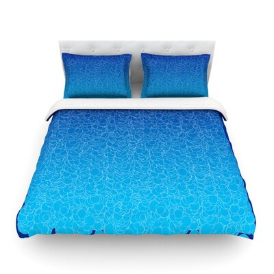 Bubbling by Frederic Levy-Hadida Featherweight Duvet Cover Size: King, Color: Blue