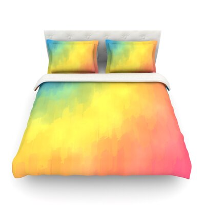 Watercolor Layers Rainbow by Fotios Pavlopoulos Featherweight Duvet Cover Size: Full/Queen