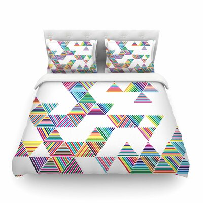 Rainbow Rain by Fimbis Featherweight Duvet Cover Size: Twin