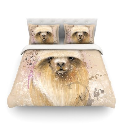 Llama Me by Geordanna Cordero-Fields Featherweight Duvet Cover Size: Twin