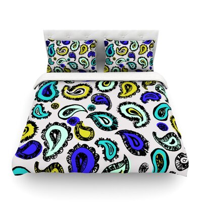 Fun by Gabriela Fuente Featherweight Duvet Cover Size: Twin, Color: Blue
