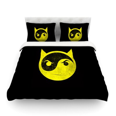 Bat Yin by Frederic Levy-Hadida Featherweight Duvet Cover Size: Full/Queen