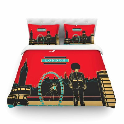 London England by Famenxt Featherweight Duvet Cover Size: King