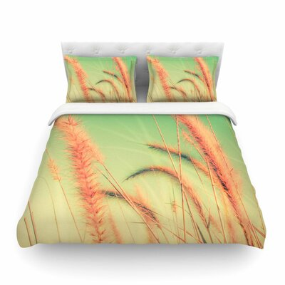 Dancing in Spring Pastel Nature by  Graphic Tabby Featherweight Duvet Cover Size: King