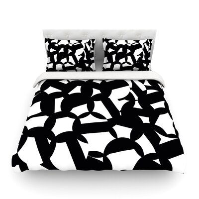 Geo Chic by Gabriela Fuente Featherweight Duvet Cover Size: Twin