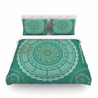 Medallion Pattern by Famenxt Featherweight Duvet Cover Size: Full/Queen