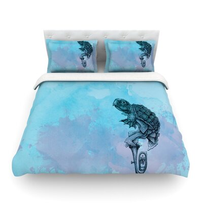 Turtle Tuba by Graham Curran Featherweight Duvet Cover Size: Twin
