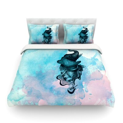 Elephant Guitar by Graham Curran Featherweight Duvet Cover Size: Twin