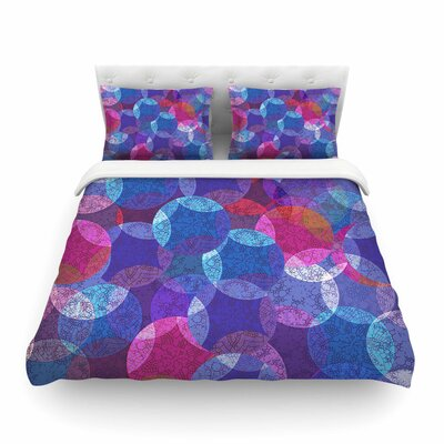 Mandala Pink Abstract by Fernanda Sternierit Featherweight Duvet Cover Size: King