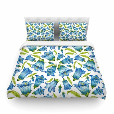 Campanula Floral by Alisa Drukman Featherweight Duvet Cover Size: Twin