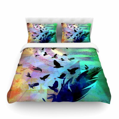 Not Quite Birds Of a Feather by Alyzen Moonshadow Featherweight Duvet Cover Size: Twin