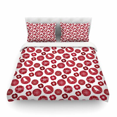 Lucrezia Pattern by Anchobee Featherweight Duvet Cover Size: Queen