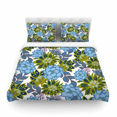 Dahlias Floral by Amy Reber Featherweight Duvet Cover Size: King