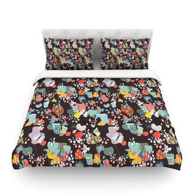 At Home by Akwaflorell Featherweight Duvet Cover Size: Twin