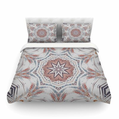 Boho Dream Olive by Alison Coxon Featherweight Duvet Cover Size: King, Color: Pink/Blue