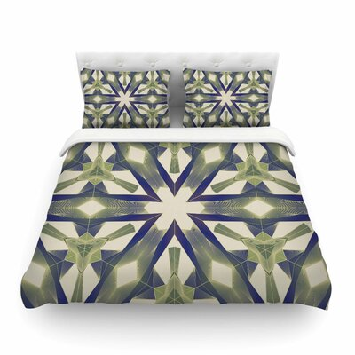 Lymph Geometric Modern by Angelo Cerantola Featherweight Duvet Cover Size: Queen