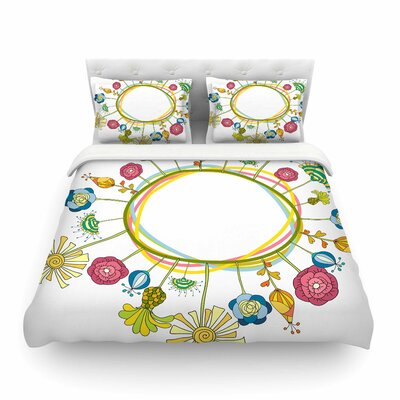 Flo Floral by Alisa Drukman Featherweight Duvet Cover Size: Twin