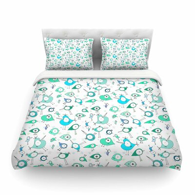 Birdies by Anchobee Featherweight Duvet Cover Size: Queen