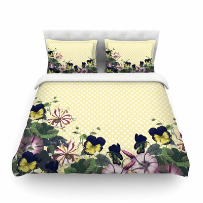 Polka Dot by Alison Coxon Featherweight Duvet Cover Size: Twin