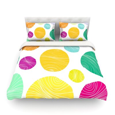 Eolo Circles by Anchobee Featherweight Duvet Cover Size: Queen
