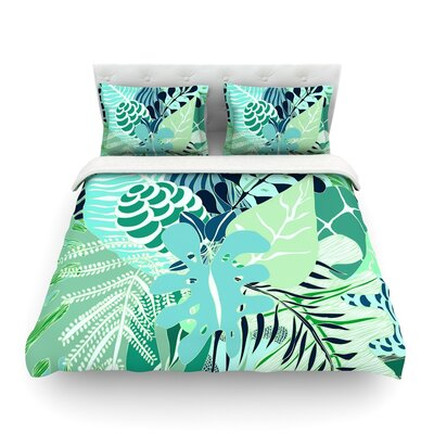 Giungla Floral by Anchobee Featherweight Duvet Cover Size: Queen