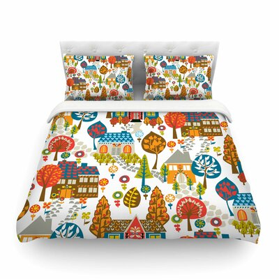 In the Village by Agnes Schugard Featherweight Duvet Cover Size: Queen