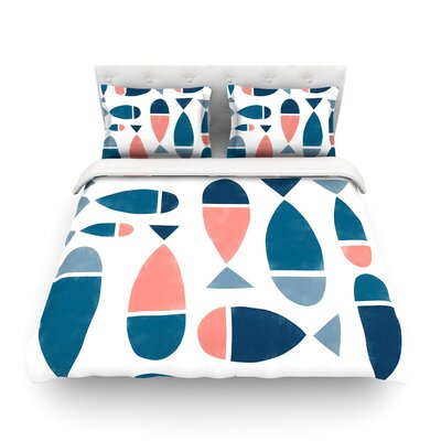 Fish by Alik Arzoumanian Featherweight Duvet Cover Size: Queen